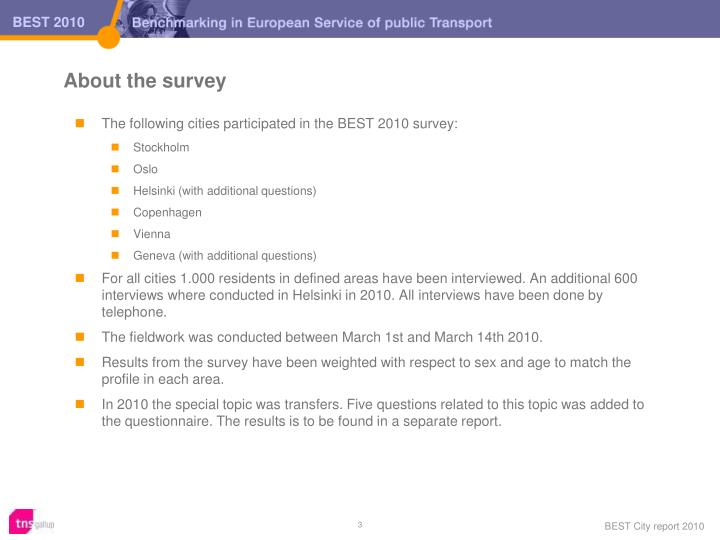About the survey