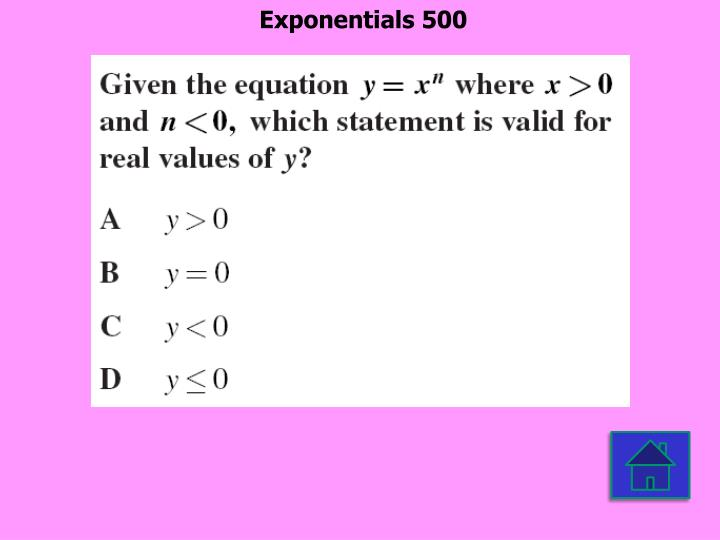 Exponentials 500