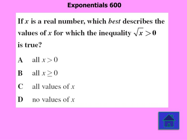 Exponentials 600