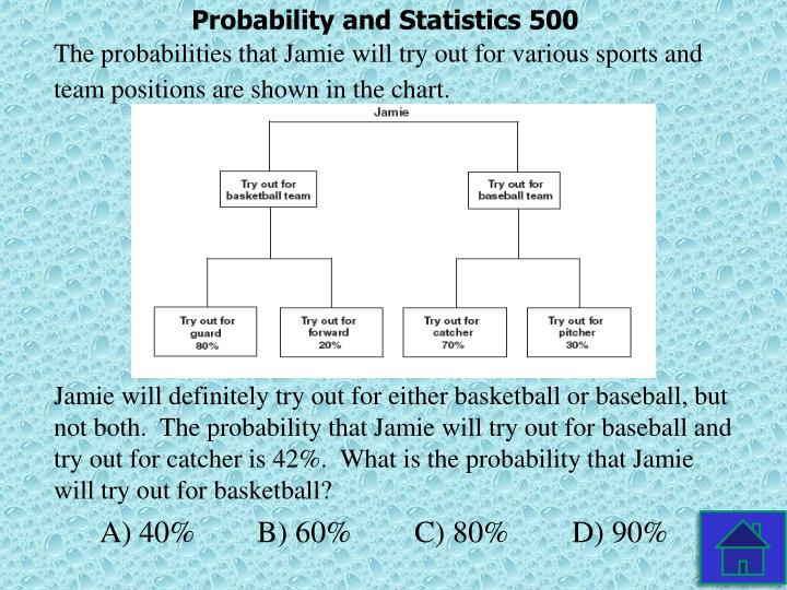 Probability and Statistics 500