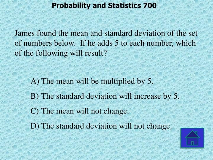 Probability and Statistics 700