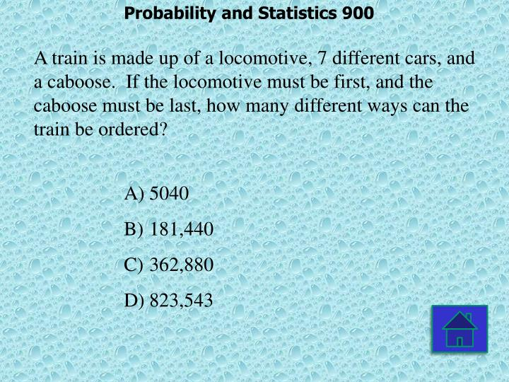 Probability and Statistics 900