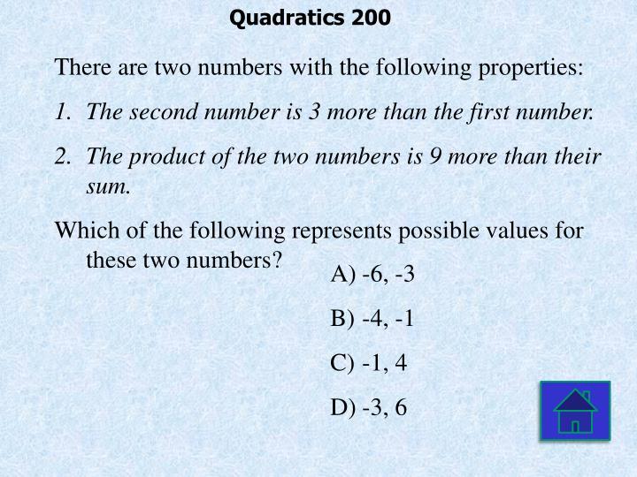 Quadratics 200