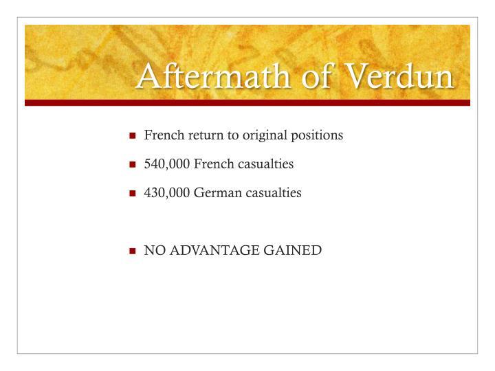 Aftermath of Verdun