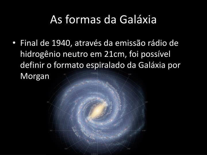 As formas da Galáxia