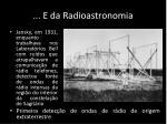 e da radioastronomia