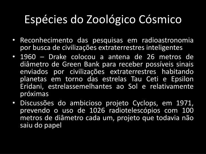 Espécies do Zoológico Cósmico