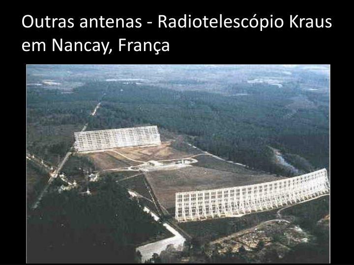 Outras antenas - Radiotelescópio
