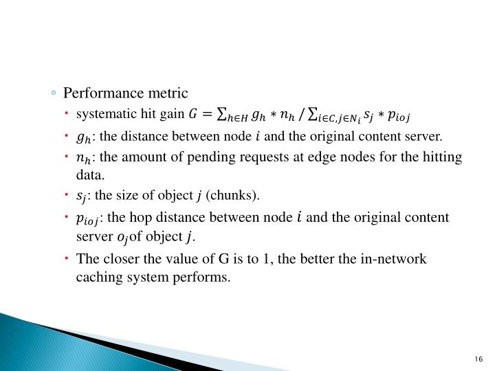 Performance metric