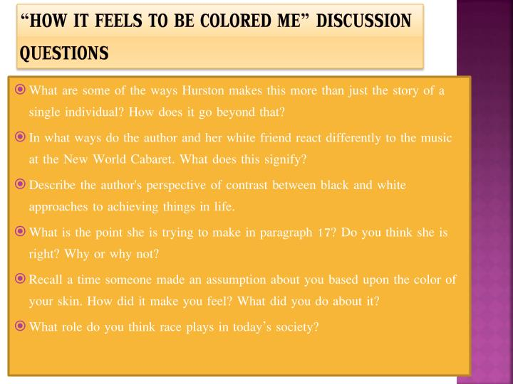 Essay how it feels to be colored me