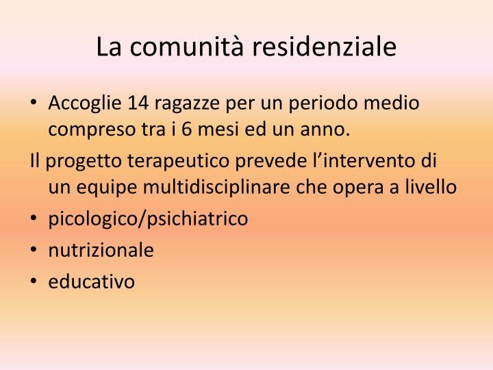 La comunità residenziale