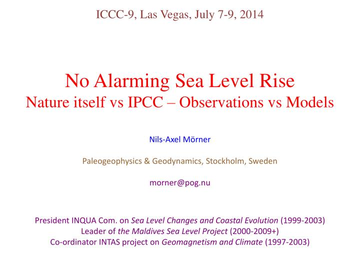 ICCC-9, Las Vegas, July 7-9, 2014