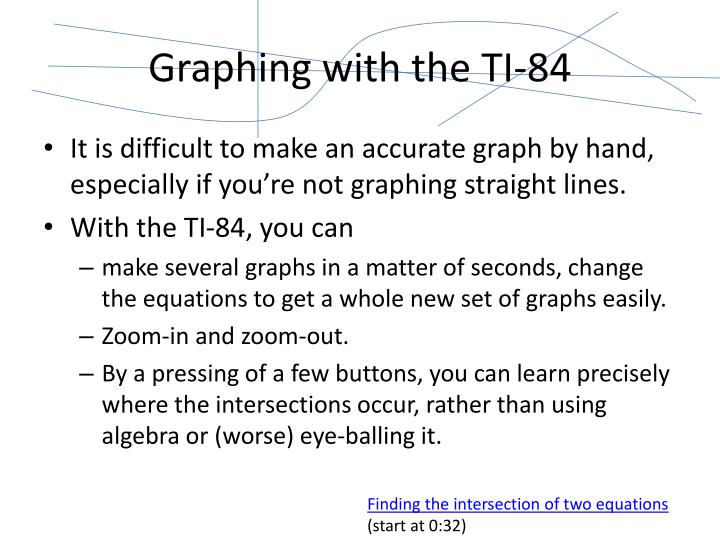 Graphing with the TI-84