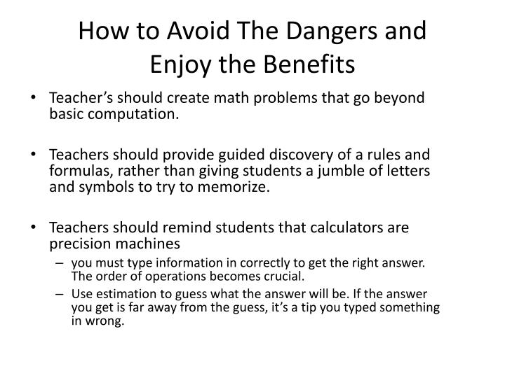 How to Avoid The Dangers and