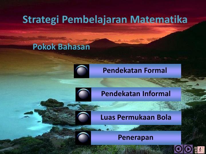 Strategi Pembelajaran Matematika