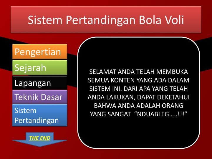 PPT - Permainan Bola Voli PowerPoint Presentation - ID:2819459