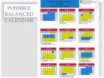 possible balanced calendar