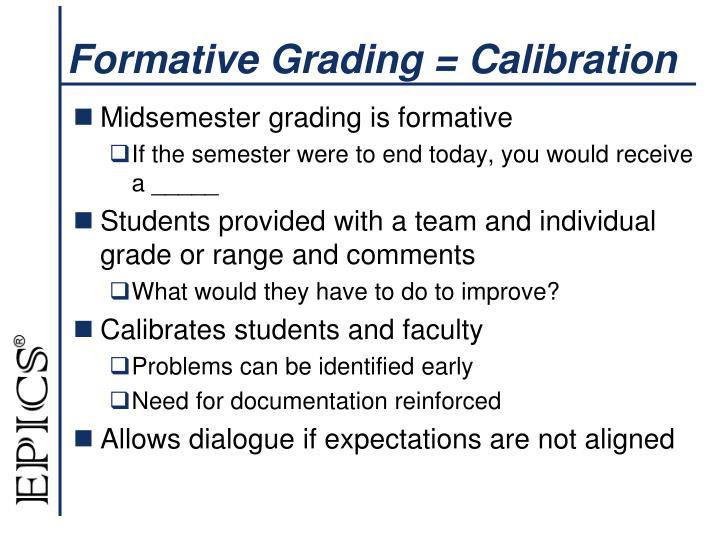 Formative Grading