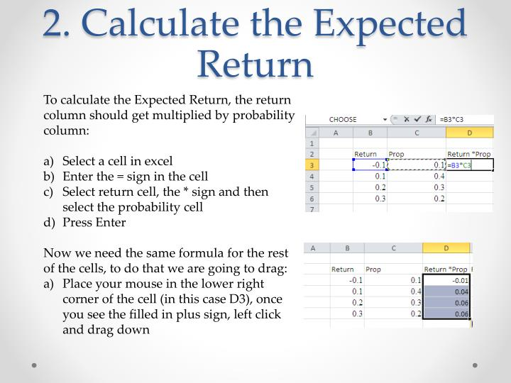 2. Calculate the Expected Return