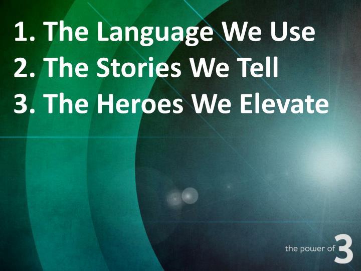 1. The Language We Use
