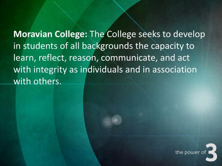 Moravian College: