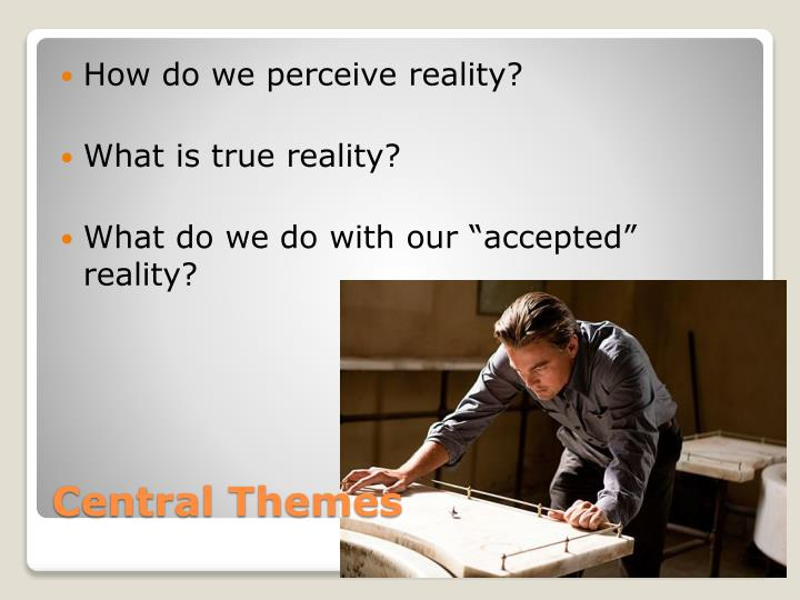 How do we perceive reality?