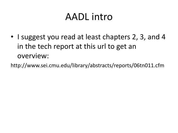 AADL intro