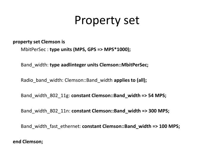 Property set