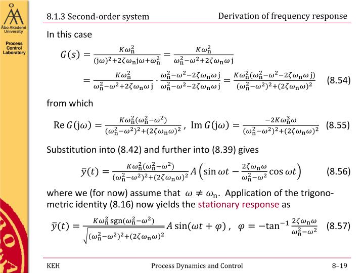 Derivation of frequency response