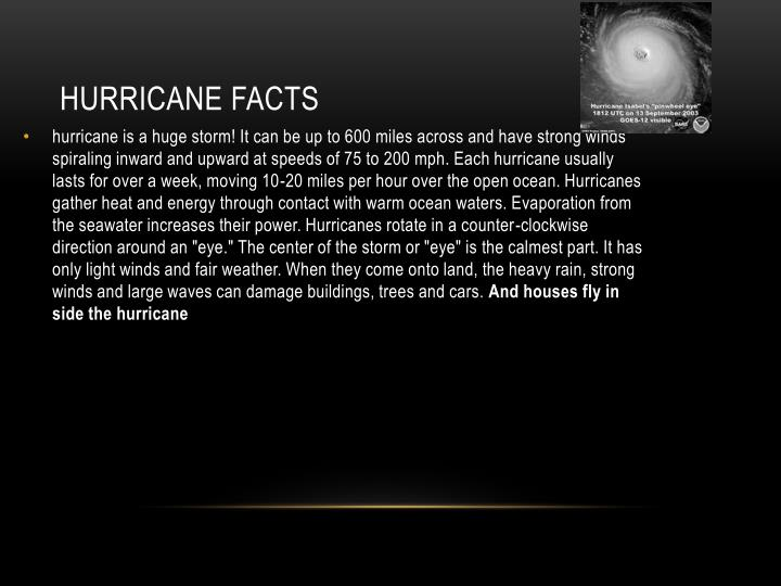 Hurricane facts
