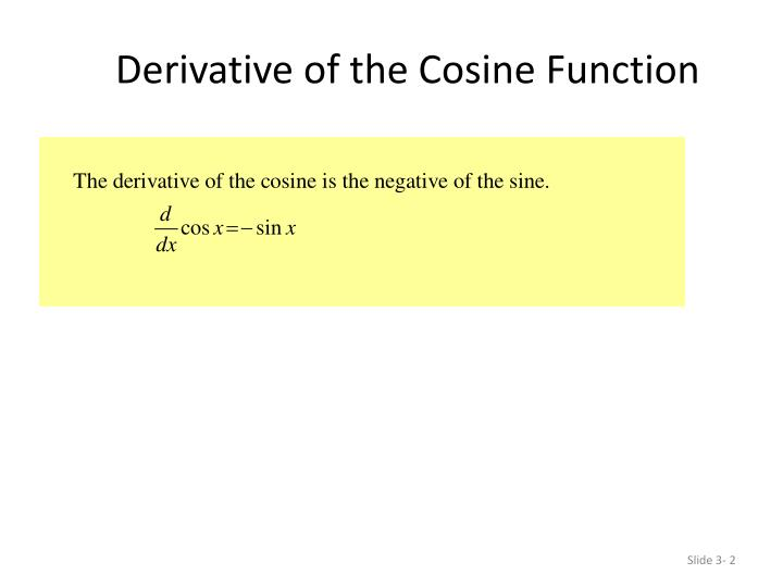 Derivative of the cosine function