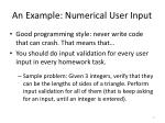 an example numerical user input1