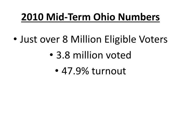 2010 Mid-Term Ohio Numbers