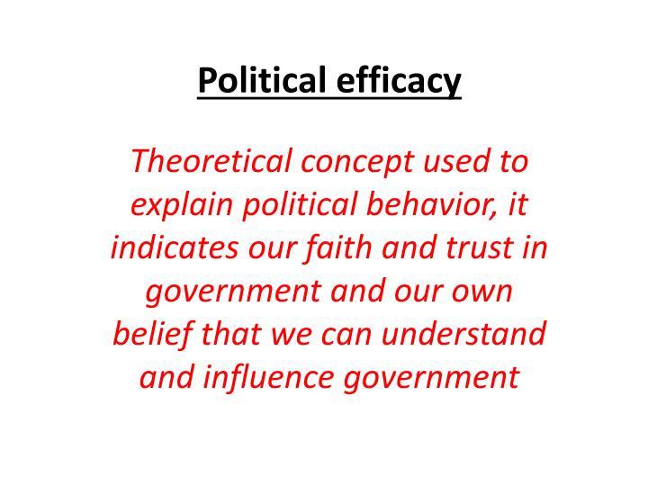 Political efficacy