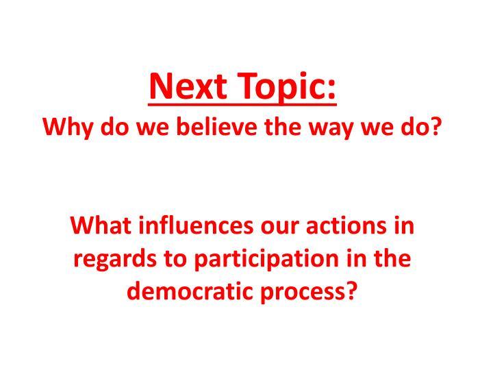 Next Topic: