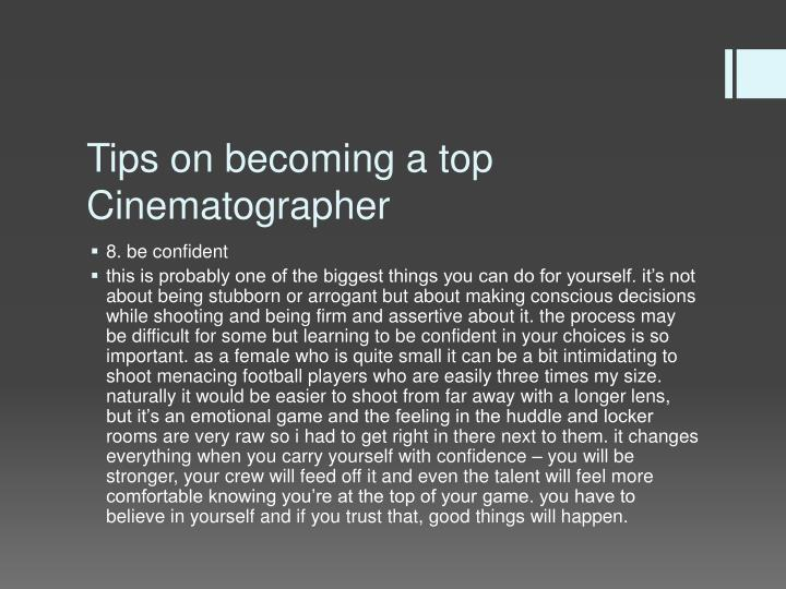 Tips on becoming a top