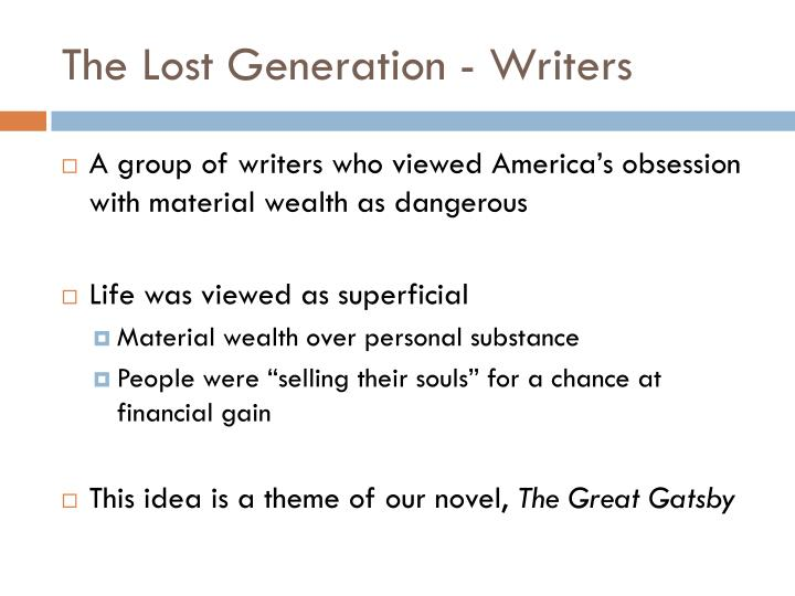 The Lost Generation - Writers