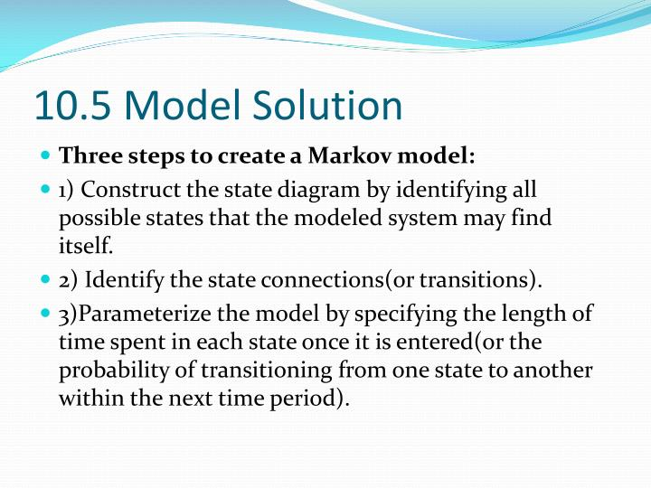 10.5 Model Solution