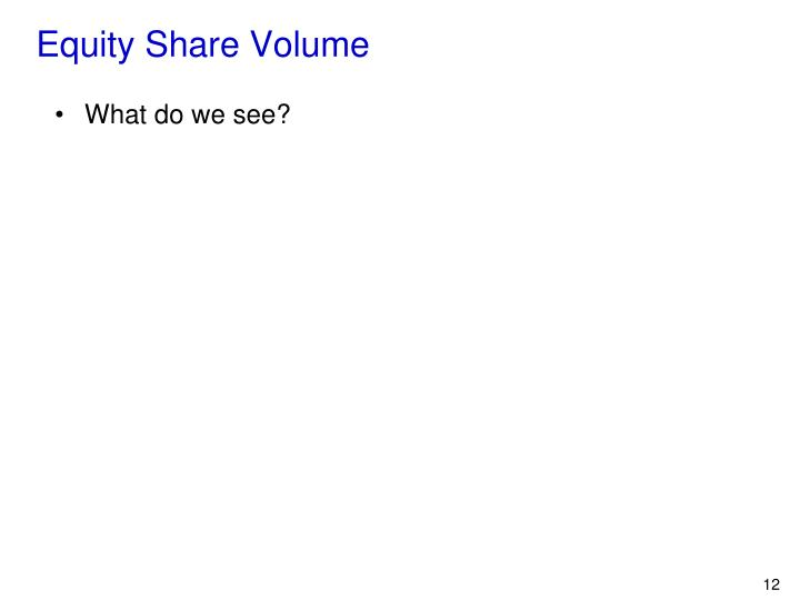 Equity Share Volume