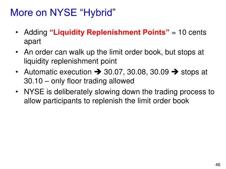 "More on NYSE ""Hybrid"""