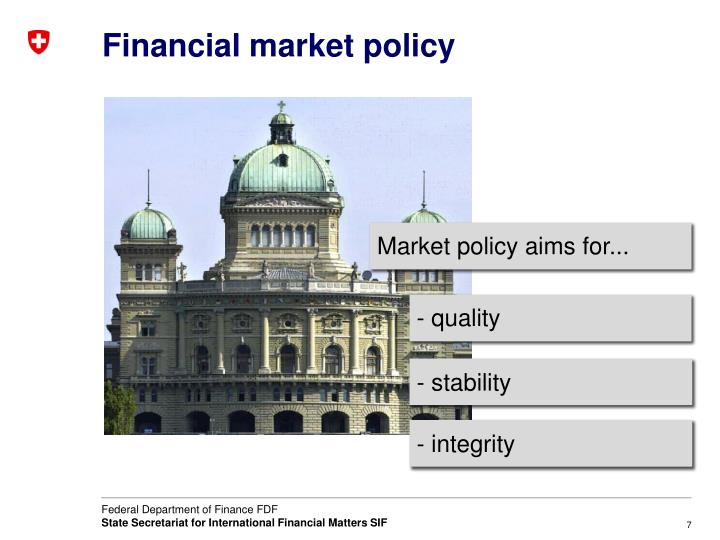 Financial market policy