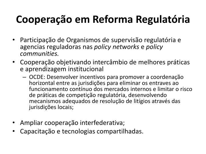 Cooperação em Reforma Regulatória