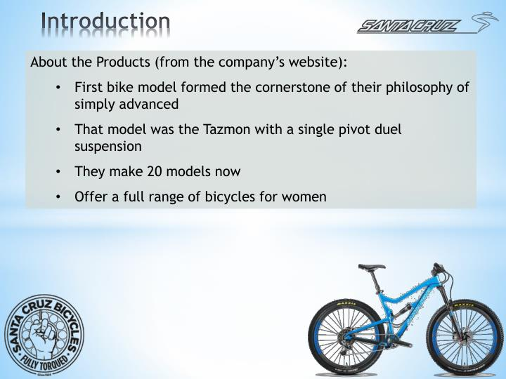About the Products (from the company's website):