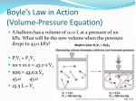 boyle s law in action volume pressure equation