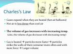 charles s law