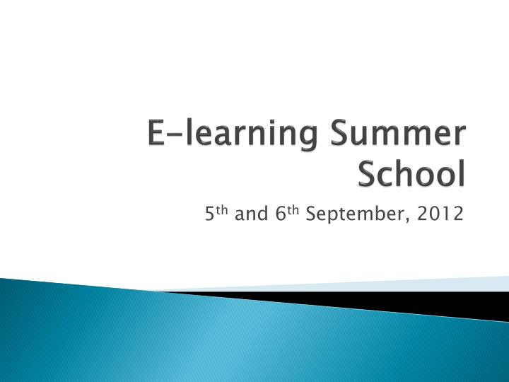 E learning s ummer school