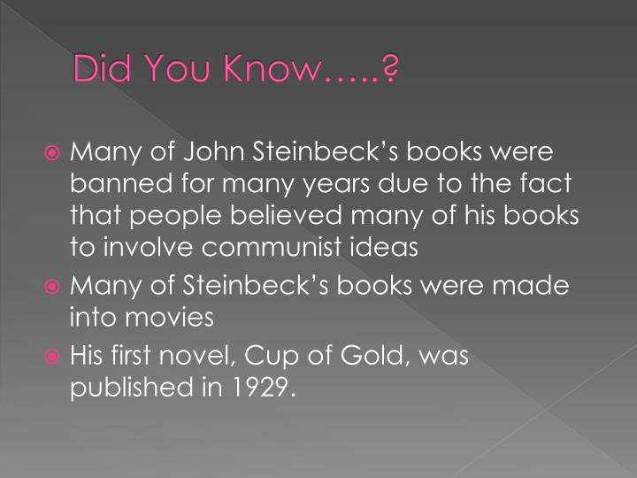 Did You Know…..?