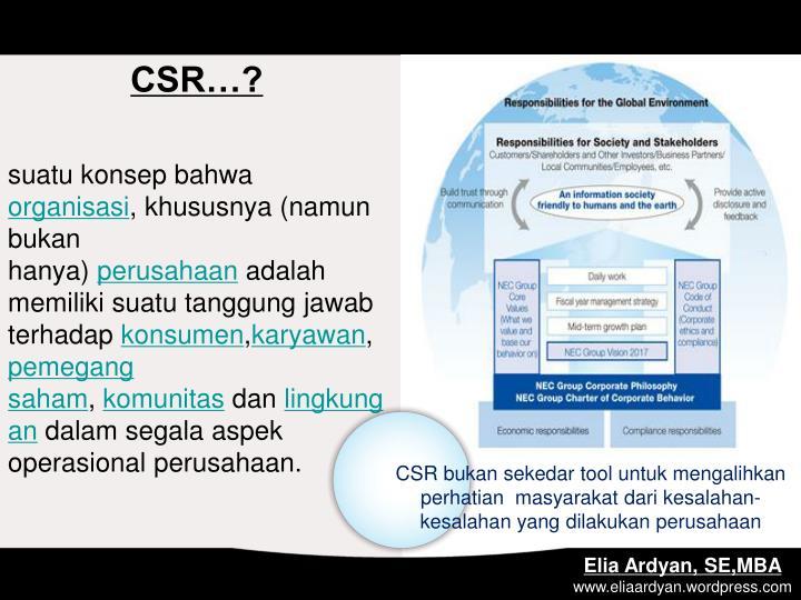 CSR…?