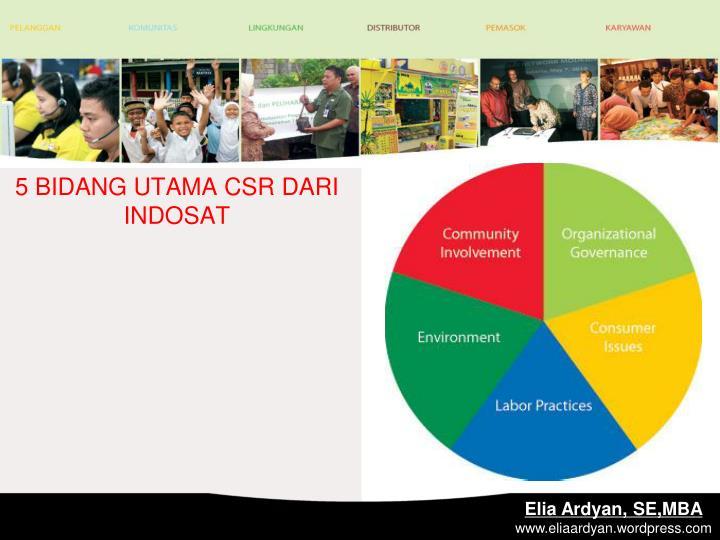 5 BIDANG UTAMA CSR DARI INDOSAT