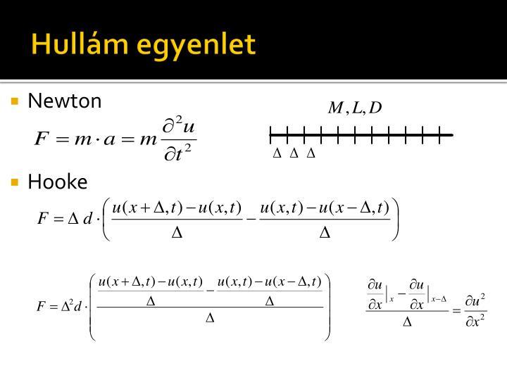 Hullám egyenlet
